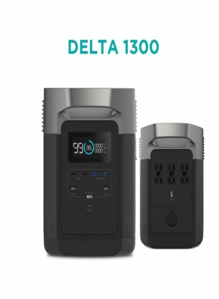ECOFLOW DELTA 1300 Battery with Inverter with 1800w Continuous 120v AC Power